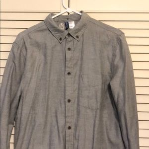 Mens h&m long sleeve button up